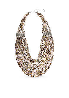 Erica Lyons Silver-Tone Put It In Neutral Multi-Strand Necklace