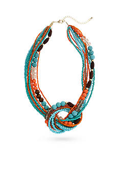 Erica Lyons Gold-Tone Southern Comfort Knot Multi-Strand Necklace