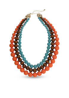 Erica Lyons Gold-Tone Southern Comfort Multi-Strand Necklace