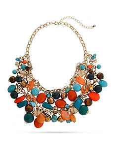 Erica Lyons Gold-Tone Southern Comfort Statement Necklace