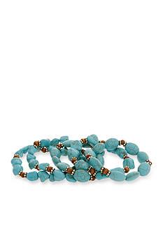 Erica Lyons Gold-Tone Southern Comfort 5-Piece Stretch Bracelet Set