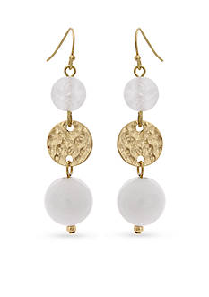 Erica Lyons Gold-Tone In The Clouds Triple Drop Earrings