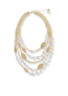Erica Lyons Gold-Tone In The Clouds Layered Necklace