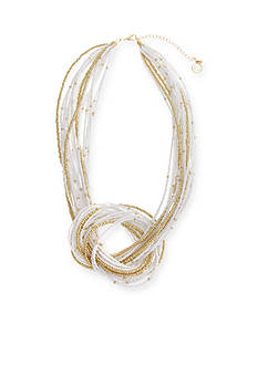 Erica Lyons Gold-Tone In The Clouds Knot Front Multistrand Necklace