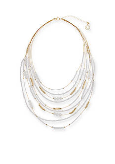 Erica Lyons Gold-Tone In The Clouds Collar Necklace