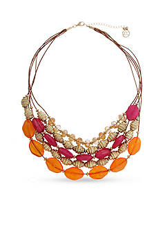 Erica Lyons Gold Tone Rock The Casbah Multi-Strand Necklace