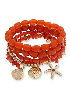 Erica Lyons Gold-Tone Sea Life 5-Piece Stretch Bracelet Set