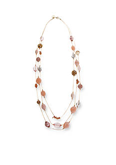 Erica Lyons Gold-Tone Making Me Blush Long Layered Necklace