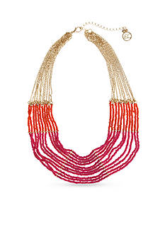 Erica Lyons Gold-Tone Rock The Casbah Multi-Strand Collar Necklace