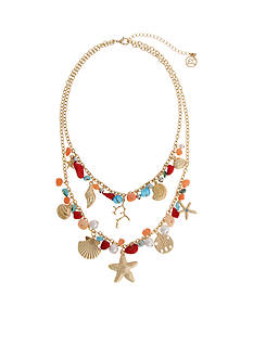 Erica Lyons Gold-Tone Sea Life Charm Layered Necklace