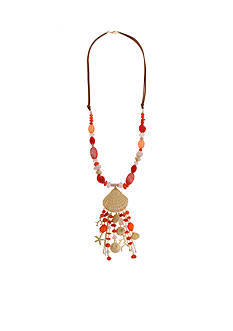 Erica Lyons Gold-Tone Sea Life Seashell Pendant Necklace