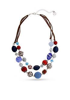Erica Lyons Silver-Tone American Pie Multi-Strand Necklace