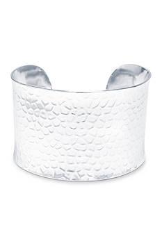 Belk Silverworks Fine Silver-Plated Cuff Bracelet