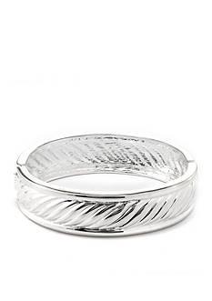 Belk Silverworks Fine Silver Plate Hinged Bangle Bracelet