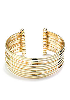 Belk Silverworks Gold and Silver Moveable Cuff Bracelet