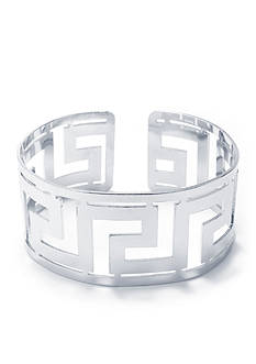 Belk Silverworks Fine Silver Plated Greek Key Cuff Bracelet