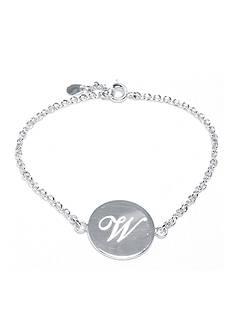 Belk Silverworks Fine Silver Plated 'W' Initial Chain Bracelet