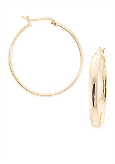 Belk Silverworks 24K Gold Plated 40-mm. Wedding Band Hoop Earrings