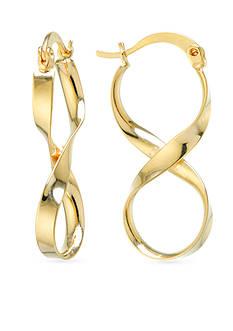 Belk Silverworks Gold-Tone Infinity Twist Drop Earrings