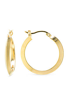 Belk Silverworks Gold-Tone Boxed Hoop Earrings