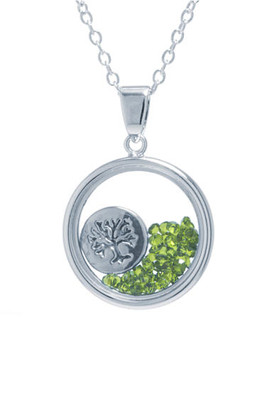 Belk Silverworks Fine Silver Plated Round Tree of Life Pendant