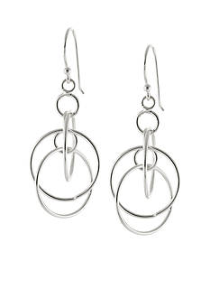 Belk Silverworks Fine Silver Plated Multi Circle Drop Earrings