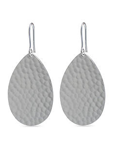 Belk Silverworks Fine Silver Plated Hammered Teardrop Earrings