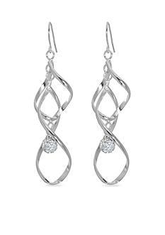 Belk Silverworks Double Ribbon Twist Drop Earring