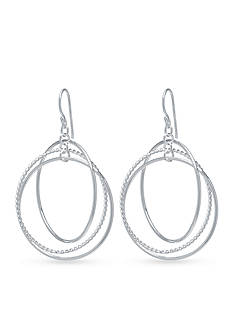 Belk Silverworks Triple Circle Drop Earring in Fine Silver Plate