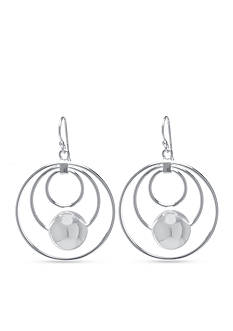 Belk Silverworks Triple Circle Drop Fine Silver Plated Earrings