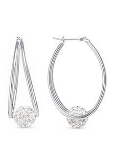 Belk Silverworks Fine Silver Plated Double Hoop Earrings