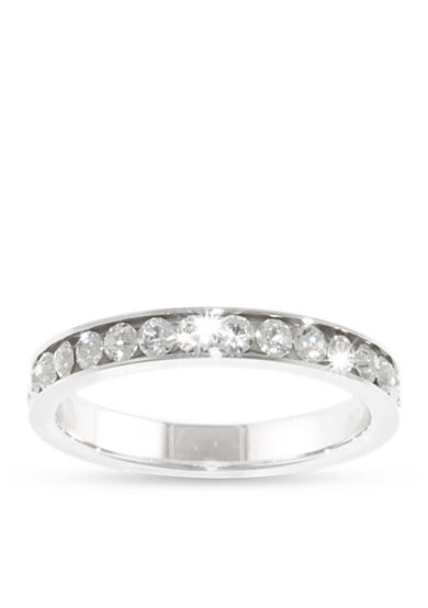 Belk Silverworks Fine Silver Plated Eternity Band Ring