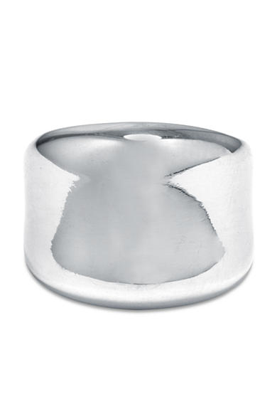 Belk Silverworks Fine Silver Plate Wide High Polish Ring