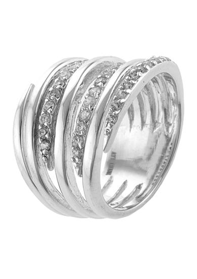 Belk Silverworks and Cubic Zirconia Stack Band Ring