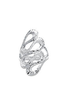 Belk Silverworks Fine Silver Plate Squiggle Ring