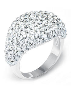 Belk Silverworks Horizontal Marquise Pave Crystal Ring