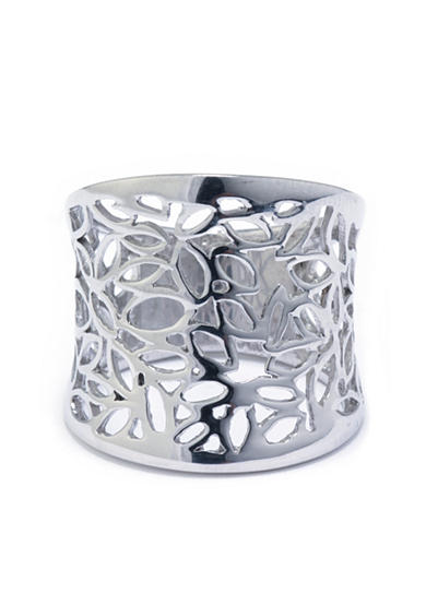 Belk Silverworks Silver Plated Flower Ring