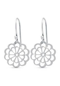 Belk Silverworks Sterling Silver Open Flower Drop Earrings