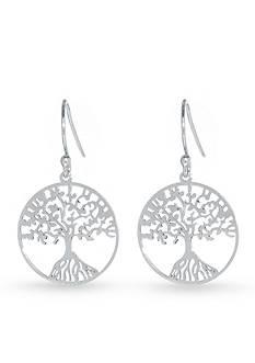 Belk Silverworks Sterling Silver Laser Cut Tree of Life Drop Earring