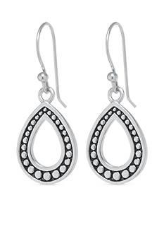 Belk Silverworks Sterling Silver Textured Open Teardrop Earring