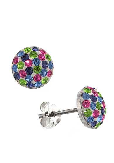 Belk Silverworks Round Half Ball Stud Earrings
