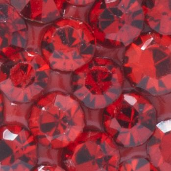 Heart Earrings: Red Belk Silverworks Sterling Silver Crystal Heart Stud Earrings
