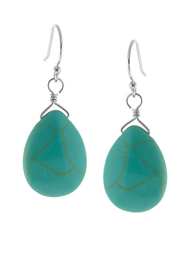 Belk Silverworks Sterling Silver and Turquoise Teardrop Earring