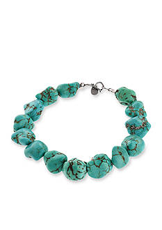 Belk Silverworks Reconstituted Turquoise Nugget Bracelet