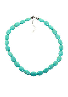 Belk Silverworks Sterling Silver Reconstituted Turquoise Necklace