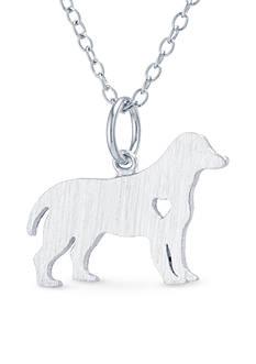 Belk Silverworks Sterling Silver Labrador Dog Pendant Necklace