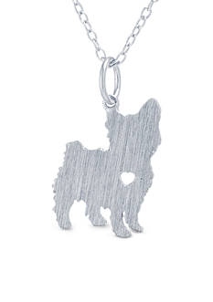 Belk Silverworks Sterling Silver Yorkie Dog Pendant Necklace