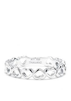 Belk Silverworks Sterling Silver Open Heart Ring