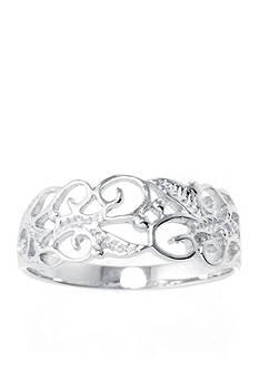 Belk Silverworks Sterling Silver Filigree Leaf Ring