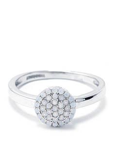 Belk Silverworks Sterling Silver Opal Pave Circle Ring